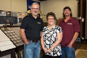 Left to right: Owner Gary, Cheryl, and Lance